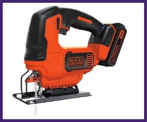 this is one of the cheap Black+Decker BDCJS20C jigsaw in our list